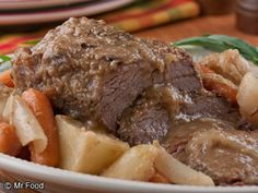Old family recipes that are splattered, tattered and torn means they've been used over and over again. Old Fashioned Pot Roast is no exception! This recipe's been passed down through generations and is full of traditional, old-fashioned goodness. Pot Roast Recipes, Meat Recipes, Crockpot Recipes, Dinner Recipes, Cooking Recipes, Dessert Recipes, Desserts, Homemade Horseradish, Kitchens