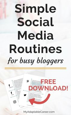 I saved so much time with these simple social media marketing routines for bloggers. Go download it now!