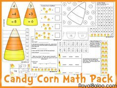 Free Candy Corn Math Pack K-2nd