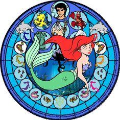 Walt Disney movie The Little Mermaid, Ariel Stained Glass by ~Disneyboi411 on deviantART