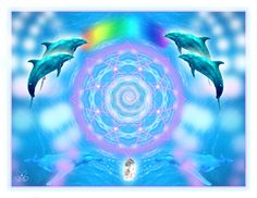 ángeles amor Brain Activities, Visionary Art, Hologram, Dolphins, Mystic, Iris, Spirituality, Outdoor, 5th Dimension