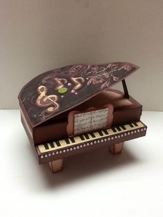 piano from thank you for the music svg cuts and CTMH La Belle Vie paper.... by Deneise Moulin (pin just goes to her uploaded photo... NO blog)