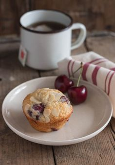 Almond Cherry Muffins | Pretty. Simple. Sweet.  I have made these and they are very yummy!-Heidi