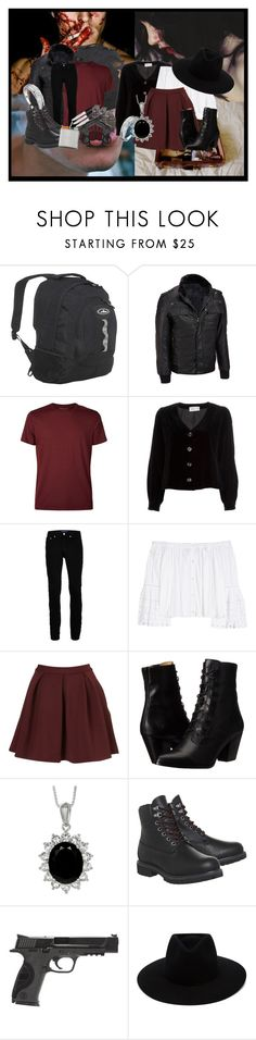 """""""To Marry A Killer."""" by bubbythenarwhal ❤ liked on Polyvore featuring Everest, Wilsons Leather, Derek Rose, Emanuel Ungaro, Topman, Carolina Herrera, Frye, Timberland, Smith & Wesson and X Games"""