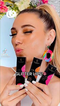 Glitter Lips, Glitter Makeup, Eyeshadow Makeup, Creative Makeup, Simple Makeup, Justice Makeup, Light Makeup Looks, Homemade Slime, Face Skin Care