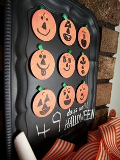 Love, but I'd make Each Holiday/Fam Birthday and pumpkins would be velcro and replaced with appropriate holiday/bday decorations.