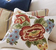 Crewel Embroidery from Pottery Barn