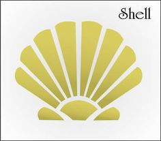 STENCIL-Seashell-Starfish-Snail-Conch-Spike-Fan-Shape-