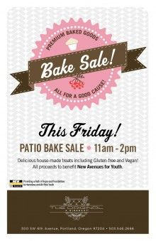 bake sale flyer template holidays happy days pinterest bake