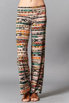 Gorgeous print palazzo pants. wide leg chic and by Foreverpeace