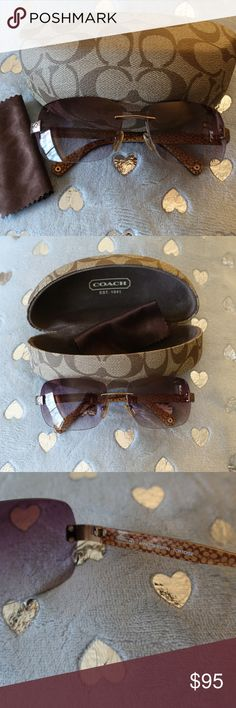 Coach Women's Sunglasses Annette S337A Tortoise Authentic Coach Women's Sunglasses Annette S337A Tortoise, case and cleaning cloth.  Good used condition.  A small scratch on top of left lens.  I tried to take a photo but it was very difficult taking a photo of clear lens Coach Accessories Glasses