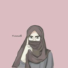 50 Gambar Kartun Muslimah Bercadar Cantik Berkacamata Kartun In