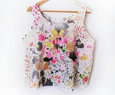 Paint splatter crop top.