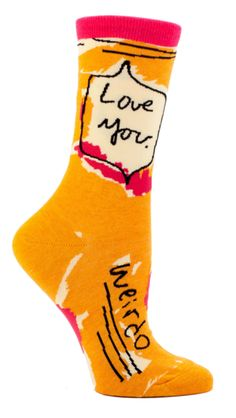 Remind your loved ones that you care, but you are under no illusions here. You are surrounded by a bunch of weirdos. These cool sherbert colored socks will brin