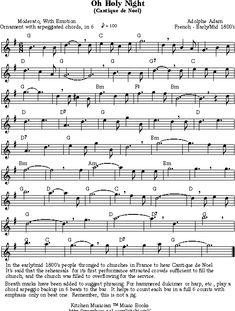 o holy night sheet music free printable