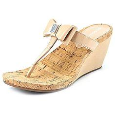 BCBGeneration Michelle Damen US 10 Beige Keilabsätze Sandale - Sandalen für frauen (*Partner-Link)
