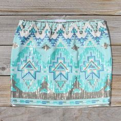 Sooo pretty!  Love the colors.    Native Clover Skirt in Mint, Women's Sweet Bohemian Clothing