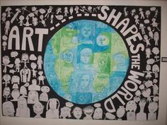 Bulletin Boards to Remember: YAM Display....Art Shapes the World