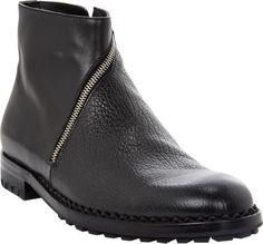 f4e987760 Balenciaga Textured Asymmetric-Zip Ankle Boots