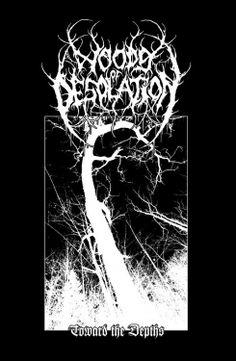 Wood of Desolation Black Metal, Heavy Metal Art, Metal Band Logos, Punk Poster, Gothic Wallpaper, Dark Photography, Album Design, Band Posters, Metal Artwork