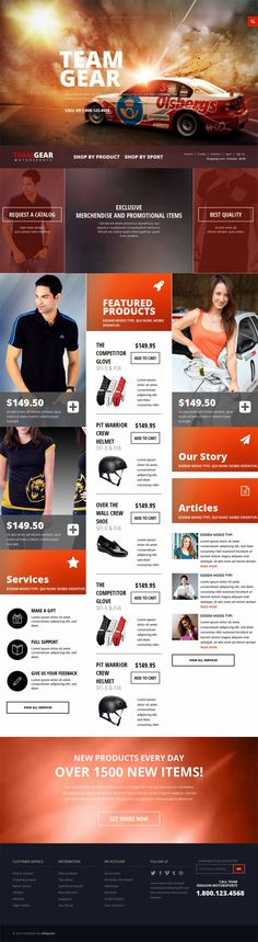 Team Gear – HTML CSS Flat Responsive Free Template Ecommerce