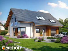 Dom jednorodzinny z poddaszem użytkowym , strop płyta żelbetowa , 120.27 m² + 18.42 m² + 6.84 m² , 5 pokoi, 1 kuchnia, 2 łazienki, kotłownia, garderoby, kominek, garaż