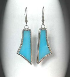 Turquoise Stained Glass Earrings | Flickr - Photo Sharing!
