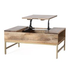Kassidy Lift Top Coffee Table with Storage - TV room - Wood Coffee Table Unique Coffee Table, Lift Top Coffee Table, Coffee Table With Storage, Wood Crafts Furniture, Modern Furniture, Living Room Modern, Engineered Wood, All Modern, Living Room Furniture