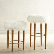 Kate Faux Fur Bar & Counter Stool