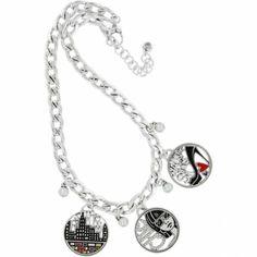 FABULOUS BRIGHTON Silver FASHIONISTA CITY Charm Necklace NWT. JN5412