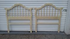 Set of Two Hollywood Regency Vintage  Oaks Twin Headboards by DEGFURNITUREDESIGNS on Etsy