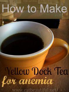 How to Make Yellow Dock Tea: Iron Wine~ For Anemia - Eat Beautiful
