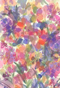 Candy Wildflowers Textile / Surface Design by Pamela Gatens www.pamelagatens.com
