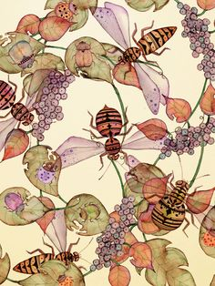 ≗ The Bee's Reverie ≗  'Aztec Bees' by Colleen Parker