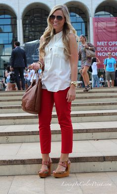 NYFW Day 3 #blogger #redpants