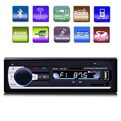 GiKPal Car Radio with Bluetooth In-Dash Single Din Car Stereo Receiver Car MP3 MP5 Player/ USB/SD/AUX/AM/FM/ with Car Radio Connector & Remove Control, 12 V Support, Black http://caraudio.henryhstevens.com/shop/gikpal-car-radio-with-bluetooth-in-dash-single-din-car-stereo-receiver-car-mp3-mp5-player-usbsdauxamfm-with-car-radio-connector-remove-control-12-v-support-black/ https://images-na.ssl-images-amazon.com/images/I/51FR8z-tBxL.jpg