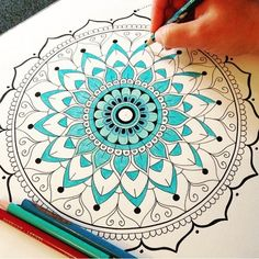 "Throw back thurs...I how I enjoyed doing this one!  •••❁••• colour time! Drawing is a relaxation technique for myself, a form of meditation. The intricate nature of the art requires deep concentration and I find this very therapeutic. Adding colour to certain designs brings such life into the drawings, I call it the ""fun part"" it takes less concentration and allows for a whole new burst of creativity. I have had a few requests lately for a mandala colouring in book, it is definitely on ..."