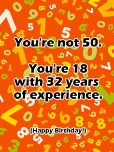Funny Happy 50th Birthday Card