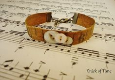 Antique Tape Measure Bracelet with Vintage Buttons  by KnickofTime, $14.00