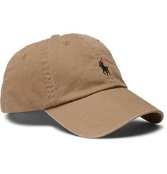 Polo Ralph Lauren's baseball cap is a timeless sporty essential. Made from soft cotton-twill, it's embroidered with the brand's iconic logo and has aerating eyelets. The adjustable tab and internal browband ensure the most comfortable fit. Pair it with one of the US label's classic polo shirts.