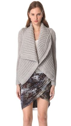 Helmut Lang Augmented Shawl Cardigan - this looks so cozy, comfortable and lush - amazing
