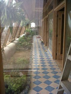 Earthship Atrium hothouse and heating room from Earthship Biotecture Mexico