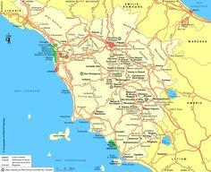 Carnets De Voyage Italie Carte Du Circuit Toscane