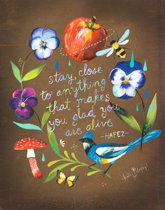 Stay Close vertical print by thewheatfield on Etsy