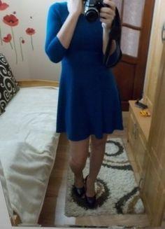 Kup mój przedmiot na #vintedpl http://www.vinted.pl/damska-odziez/krotkie-sukienki/15870493-morska-sukienka-z-rekawami-34-lekko-rozkloszowana
