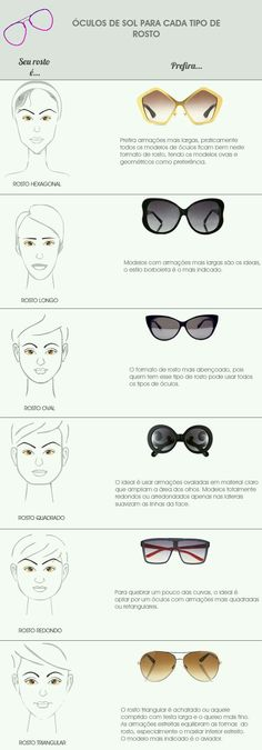 Sunglasses shape to face shape