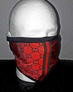 This new protection mask is made from a lightweight Red and Black Gucci lycra with the signature Red and Green Gucci ribbon trim. Fully lined for a. Homeade Face Mask, Homemade Facial Mask, Diy Mask, Diy Face Mask, Face Masks, Face Cleaning Routine, Mens Face Mask, At Home Face Mask, Beautiful Mask