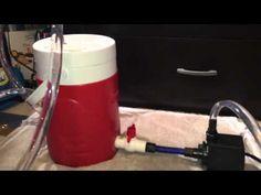 How To Make: DIY Canister Filter (Aquarium Filter) - YouTube Turtle Basking Platform, Diy Aquarium Filter, Goldfish Aquarium, Pond Filters, Fish Care, Aquarium Design, Planted Aquarium, Aquaponics, Tropical Fish