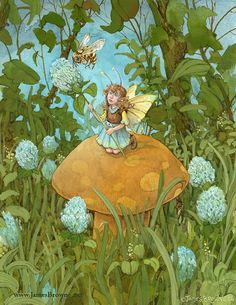 Bumblina Fairy and Bee 8.5x11 Signed Print by brownieman on Etsy, $11.50