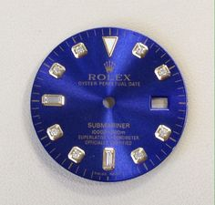 Rolex Submariner Blue Diamond Dial For Two Tone Watch #Rolex